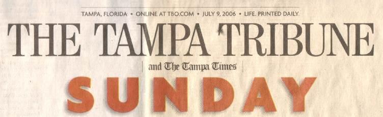 image of sunday front page sunday logo tampa tribune