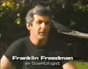 Frank Friednman states Scientology is NOT a religion, that the religious angle was contrived