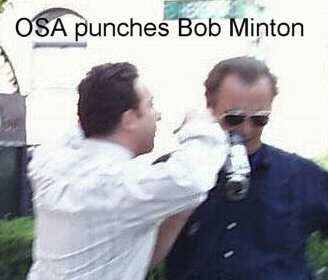 Scientology osa frank offman punching RObert Minton in boston, USA