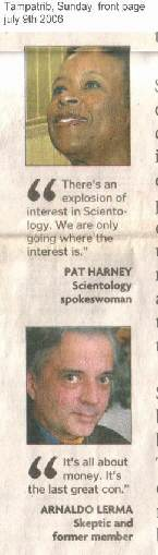 Scientology spokesperson pat hearny and ex-member Arnaldo Lerma
