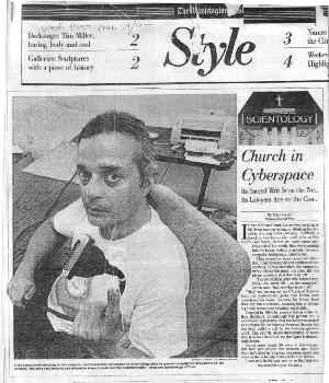 Arnie Lerma on the front page of Wash Post Style section with photo, August 1995